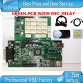 DHL FREESHIP 10pcs /lots 2015.1 free active any time without BLUETOOTH new vci TCS cdp pro plus with NEC RELAY green pcb