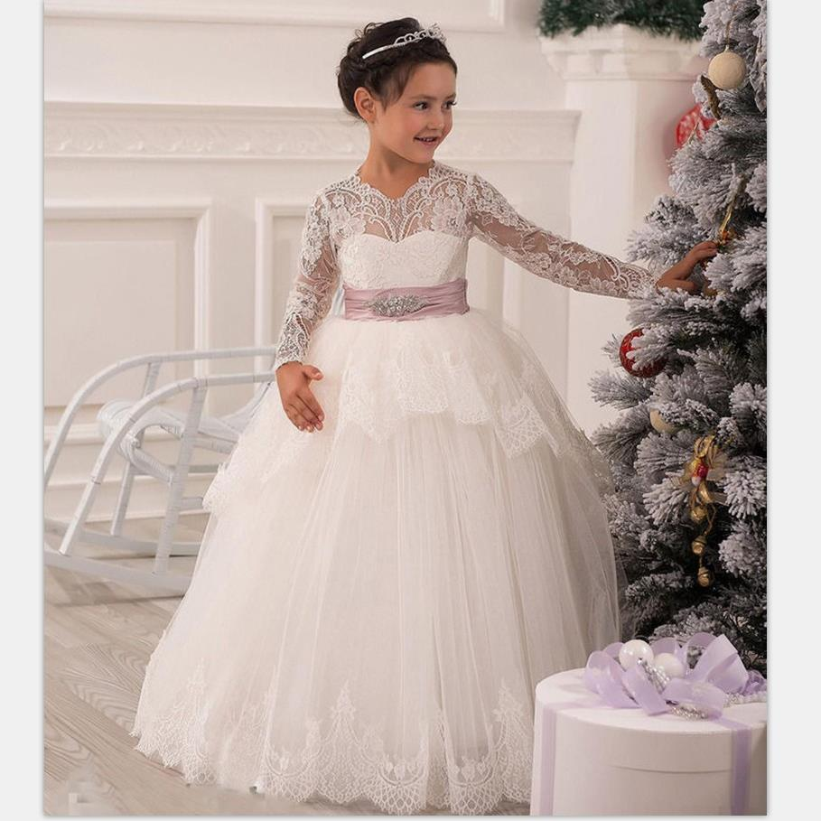 Baby Girl Wedding Braidal Dress Kids Brand Clothing Girl Dresses Kids Long Evening Dress Designs for Teenager Ball Gown Vestidos brand princess dresses for girl evening dress for baby girls ball gown kids girls dress celebration clothing wedding dresses 8