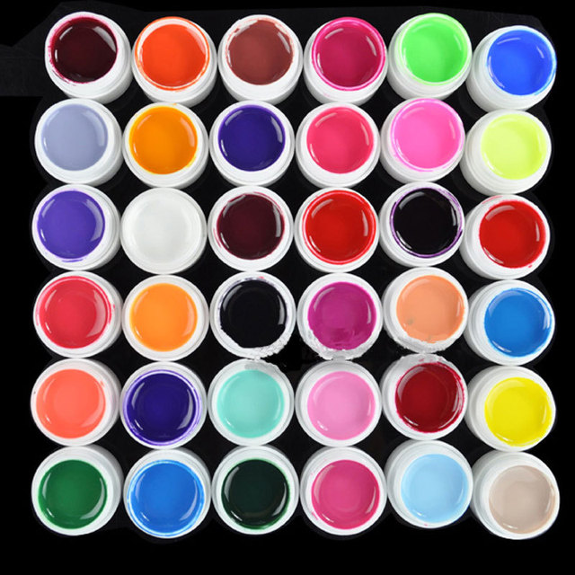36 Colors 5ml Pure Colors UV Gel Extension Nail Art Design Gel Nail Polish Nail art Decorations