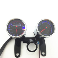 1 set of odometer motorcycle speedometer with LED backlight moto instrument tachometer motorbike accessories scooter gauge panel