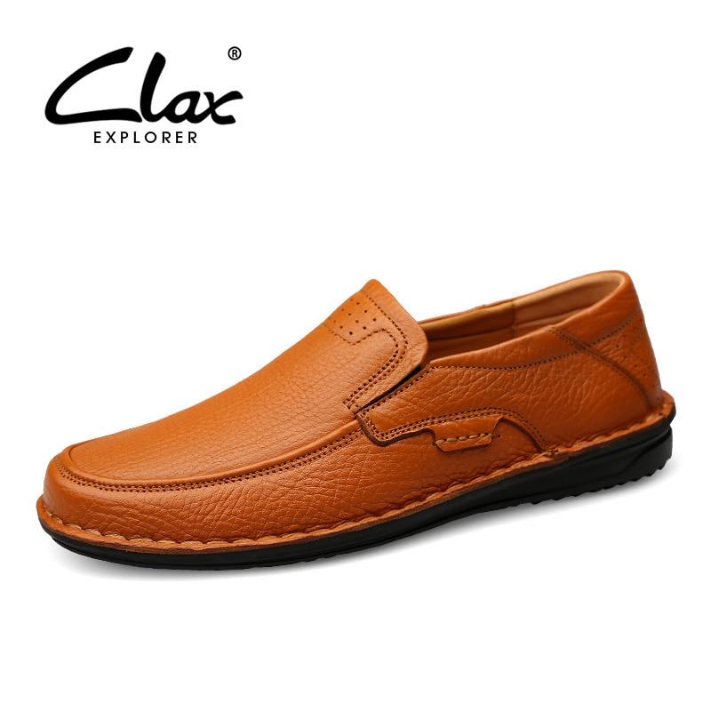 Clax mens leather shoes 정품 가죽 2019 봄 여름 레트로 디자이너 로퍼 남성 워킹 신발 luxury brand breathable-에서남성용 캐주얼 신발부터 신발 의  그룹 1
