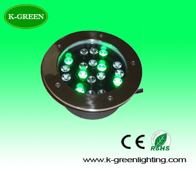 ФОТО 10X high quality 24*1W LED underground lamp IP68 waterproof buried lighting with Bridgelux chip express free shipping