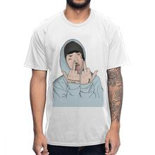 Hip Hop Rapper Lil Xan T shirt Men's Quality Cotton Graphic Tee Shirt Camiseta(China)