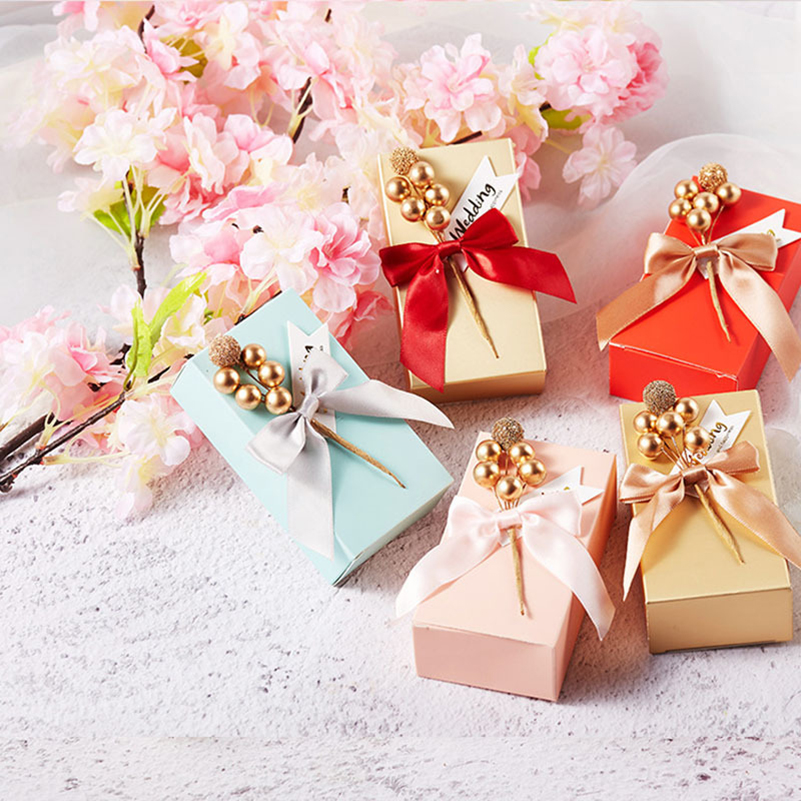 Wedding Gift China: 1pc Hot Sale Bow Ribbon Paperboard Candy Case Gift Box For