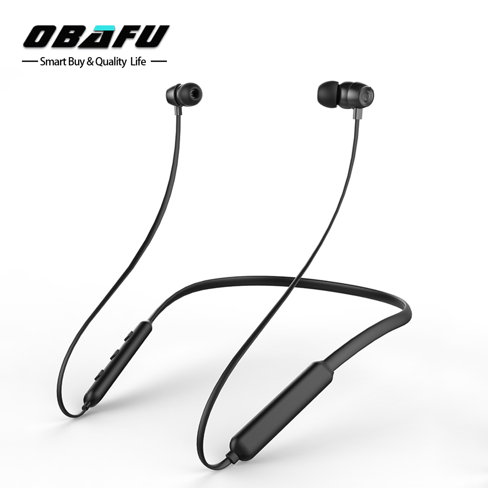 Obafu Magnetic Bluetooth Headset Flex Bluetooth Earphone Sports Wireless Headphones Stereo for Phone Xiaomi iPhone Android IOS 50pcs lot original s9 bluetooth headset s9 sports headphones wireless headset for iphone android iso