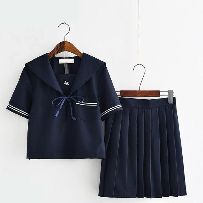Jk Japanese Sailor Suit School Uniforms Fashion School Class Navy Sailor School Uniforms Short Sleeve For Cosplay Girls Suit