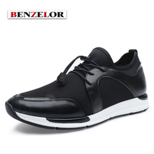 BENZELOR Men Shoes 2017 New Arrival Brand Fashion Casual Chaussure Homme Genuine Leather Comfortable Soft Shoes Men SD7081
