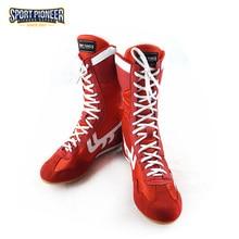 Sport Pioneer Boxing Shoes Träningsskor Tendon i slutet Läder Sneakers Professionella Boxningskor för män
