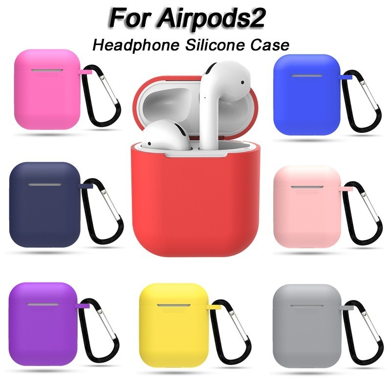 Soft Silicone Case for Apple font b Airpods b font Shockproof Cover for Apple font b
