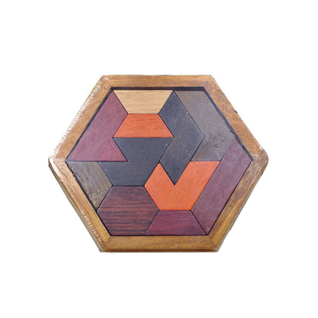 Kids Puzzles Wooden Toys Tangram/Jigsaw Board Wood Geometric Shape P Children Educational Toys