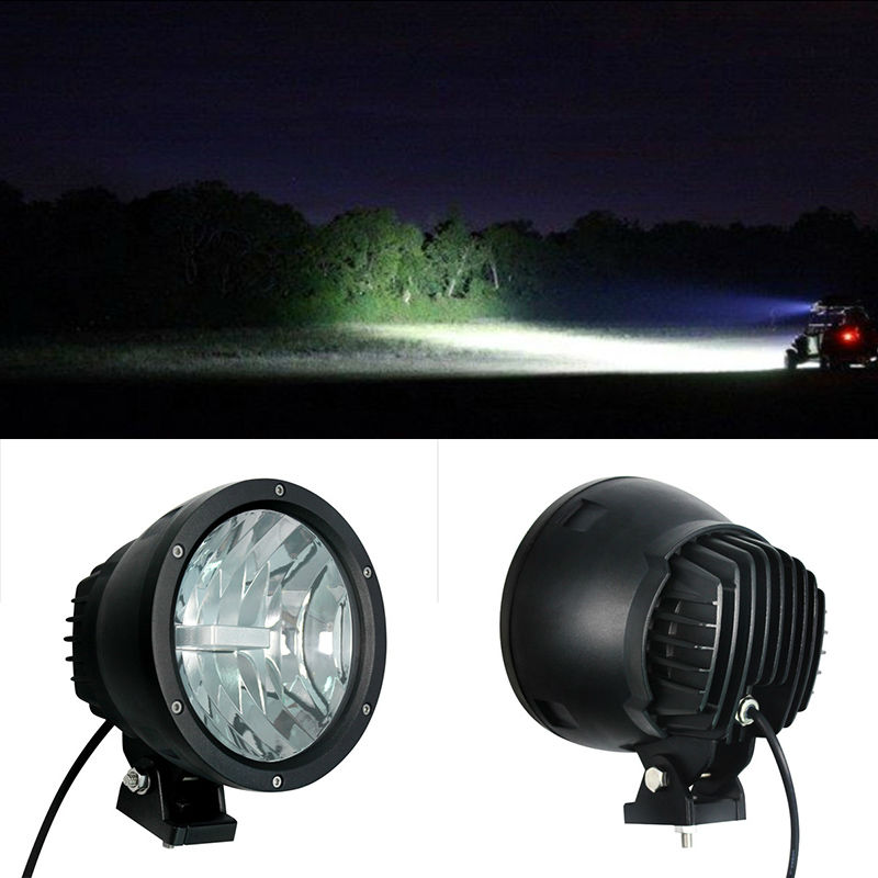 50W 7 9inch LED Working Driving Fog Light Car SUV Off road front bumper diamond Lamp with high intensity USA Cree LEDS Cannon 50w LED Driving Light (6)