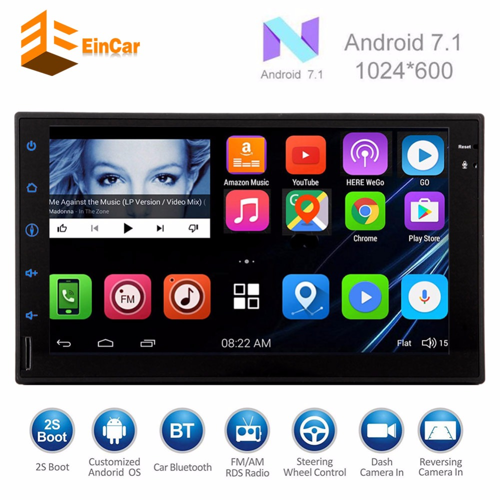 Android 7.1 2 din car gps navigator 2 din android Head Unit support 3G 4G OBD2 Bluetooth WIFI/navigation/USB/SD two din stereo free wireless rear camera 2 din android 6 0 car stereo head unit touch screen car pc support bluetooth fm 1080p video 3g 4g wifi