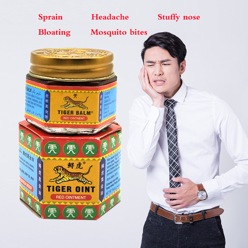 Red White Tiger Balm Ointment For Headache Toothache Stomachache Painkiller Muscle Relieving Balm Dizziness Essential Balm