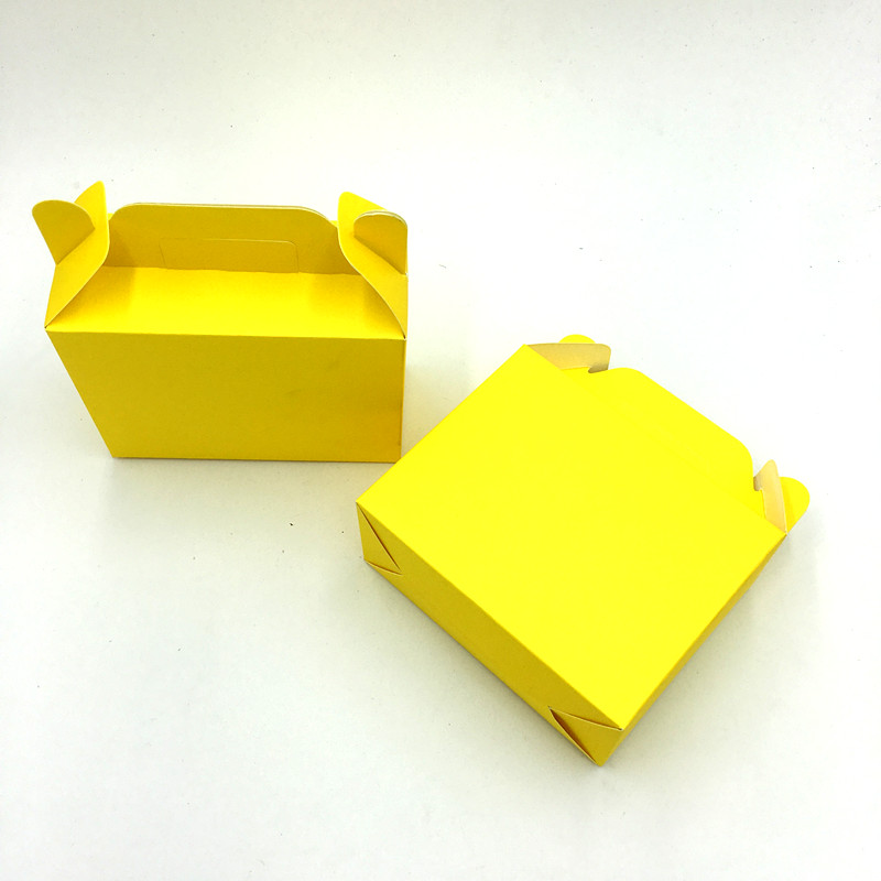 Us 4 7 6 Off 6pcs Lot Solid Color Yellow Theme Candy Box Kids Birthday Party Favors Gift Boxes Yellow Color Birthday Party Supplies In Gift Bags