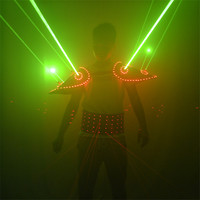 RE29 Singer stage performance led costumes dj laser men projector red beams laser belts party green laser vest sgoulder disco dj