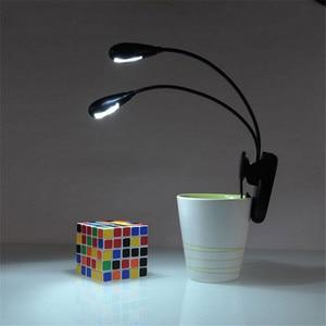 Портативная Гибкая лампа для чтения книг с зажимом, мини светодиодная лампа для чтения книг, белая лампа для чтения книг