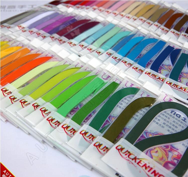 จัดส่งฟรี (100 แถบ/แพคเกจ) 3 & 5 & 10mm 60 สี Quilling กระดาษตกแต่ง DIY ความดันบรรเทาของขวัญ-ใน กระดาษคราฟต์ จาก บ้านและสวน บน   1