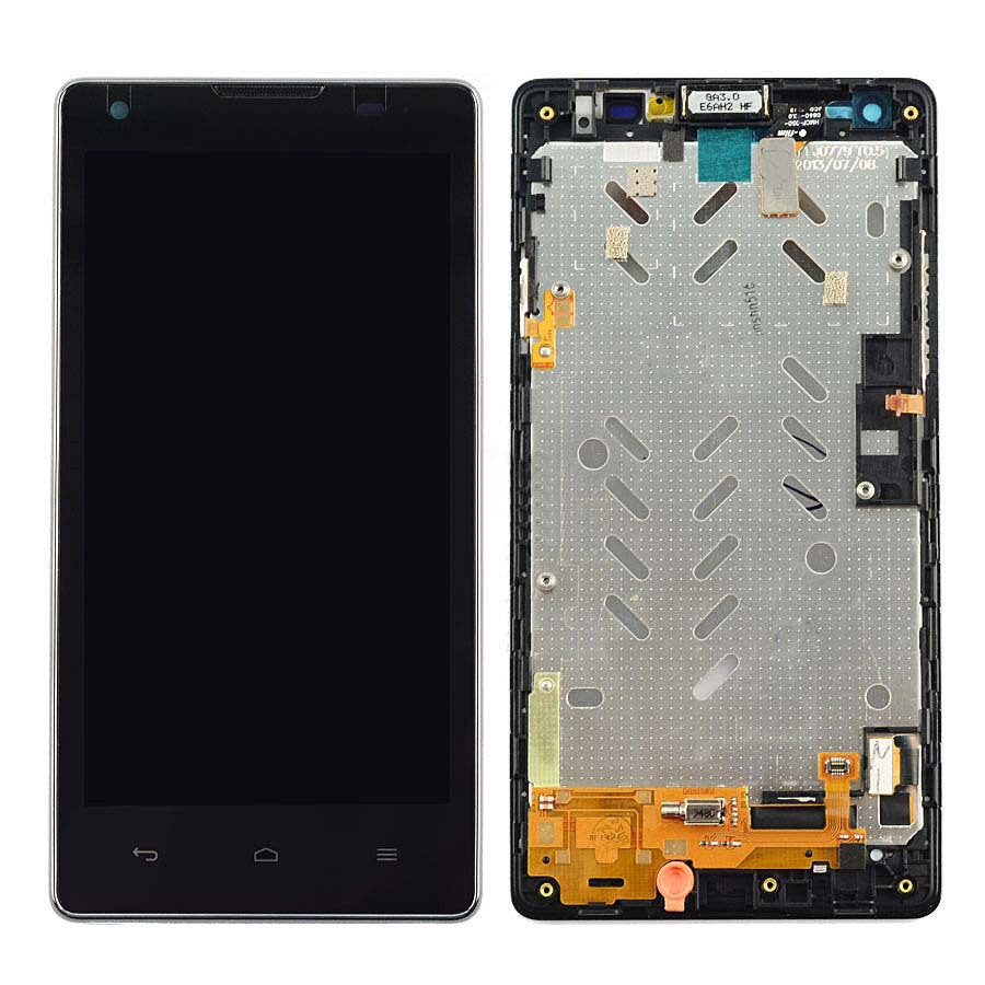 +Frame Black LCD Display + Touch Screen Digitizer Assembly Replacement For Huawei Ascend G700 Free Shipping