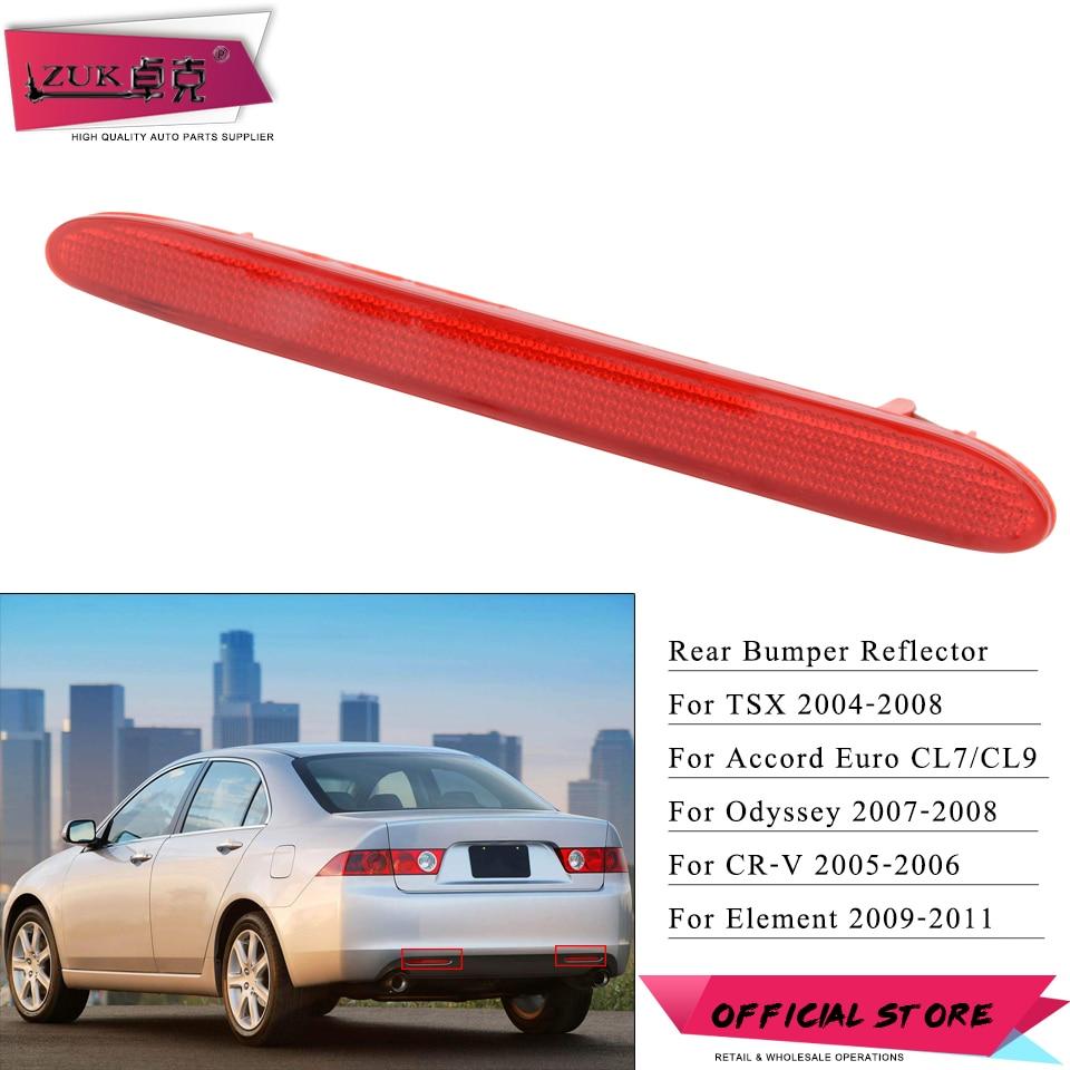 Left Rear Bumper Reflector Lights Cover Fits Honda CRV 2007-2009 City 2011-2012