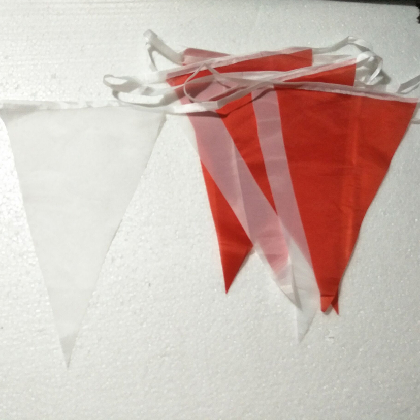 80M 200 Flags White Red Silk Flag Banner Pennant Wedding Birthday Party Decoration Event Party Supplies White party flags in Banners Streamers Confetti from Home Garden