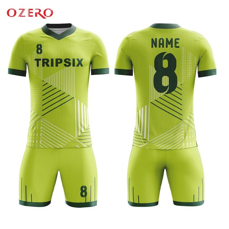 Us 140 0 Thai Quality Design Full Sublimation Custom Soccer Jersey Football Uniform Voetbal Shirts Camisetas Futbol Fussball Trikot In Soccer
