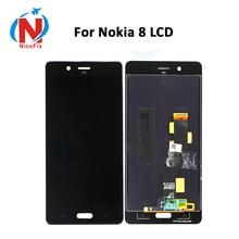 شاشة عرض LCD 5.3 بوصة لهاتف نوكيا 8 مع محول رقمي لشاشة تعمل باللمس LCD لـ Nokia8 N8 TA 1004 TA 1012 TA 1052 مع أدوات مجانية