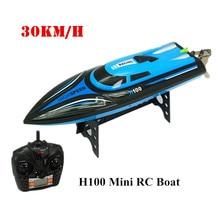 30 KM/H SKytech H100 $ NUMBER CANALES de Alta Velocidad Barco Carreras RC Barco Remoto Control Eléctrico Mini Dirigible 2.4 GHz Barcos con LCD Niños Juguete ^
