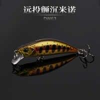 Vendita calda 2018 Trulinoya affondamento Mini Minnow Esche 50mm5g di Pesca Esche Hard Con Mobile Sfere di Acciaio Realistico 3D Occhi di Pesce