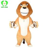 Новый для взрослых, мультяшное животное лев надувной талисман костюмы для 2,6 м Tall реклама настроить косплей на Хэллоуин, Рождество костюм