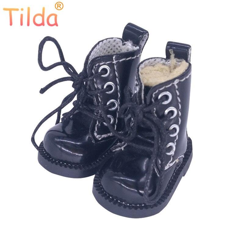Sapatos Para Blythe Pullip Bonecas Tilda 1/6 Botas Boneca de Brinquedo, 4 centímetros Botas Sapatos para Blyth Coreia Do KPOP EXO 15 centímetros Acessórios da Boneca de Pelúcia