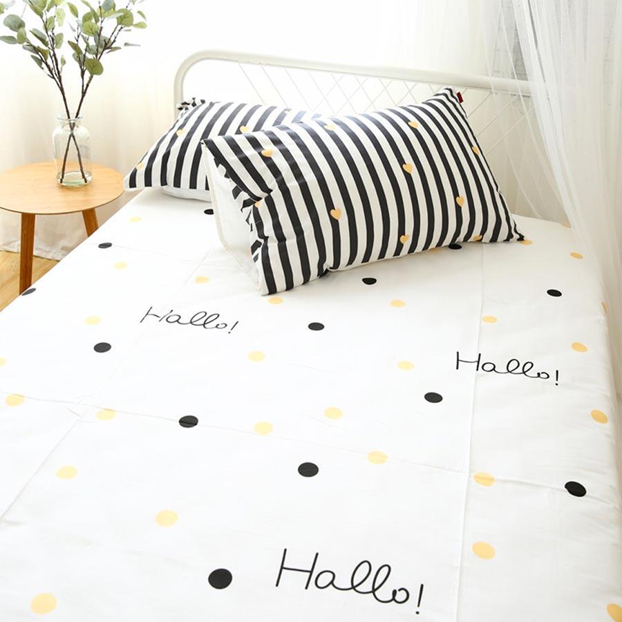 font b Cute b font geometric heart bedding set teen child cotton twin full queen