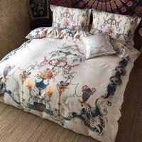 100% хлопок Home Royal hotel текстильная вышивка четыре сезона постельные принадлежности высокого качества король, королева шт размер постельное бе