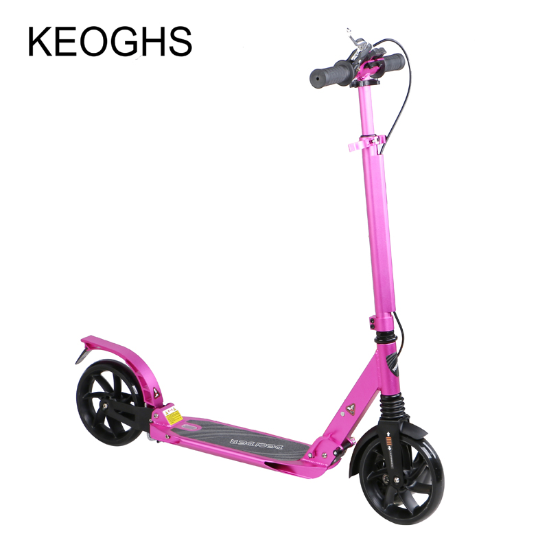 scooter for adult  baby children foldable PU 2wheels bodybuilding all aluminum shock absorption urban campus transportation professional adult foldable scooter 2 wheels shock absorption non electric 100kg bearing aluminum alloy hoverboard hot sale