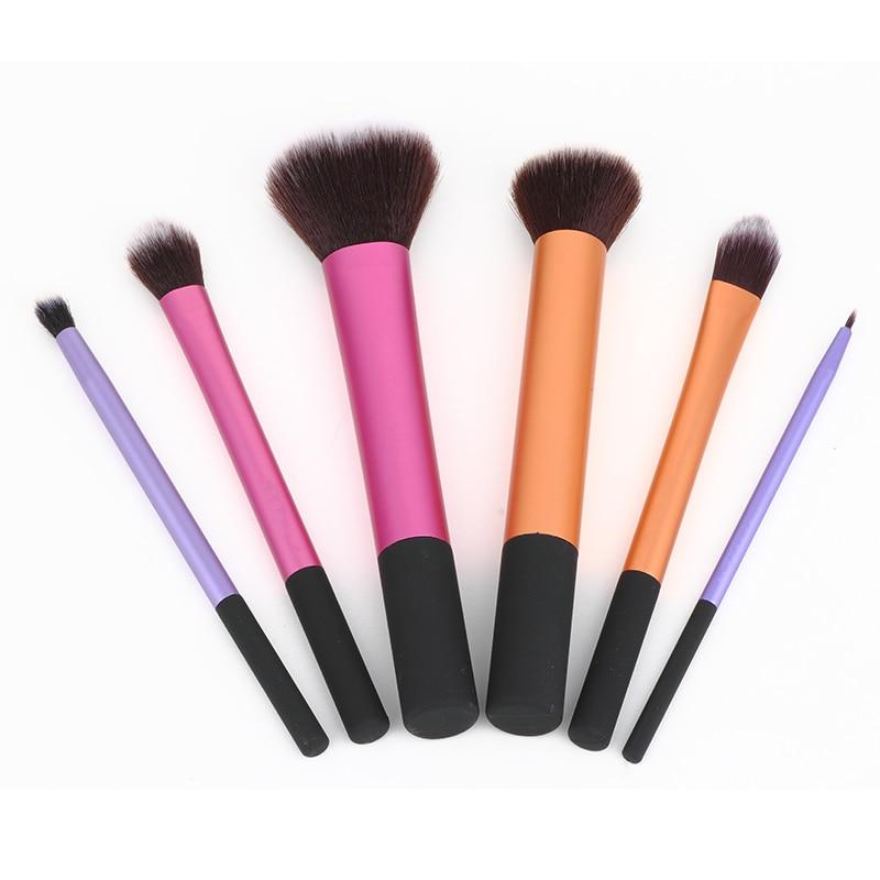 New 6pcs Professional Beginner Makeup Brush High Quality Cosmetic Brushes Makeup Powder liner Brushes Set Kit nyx professional makeup кейс визаж beginner makeup artist train case beginner