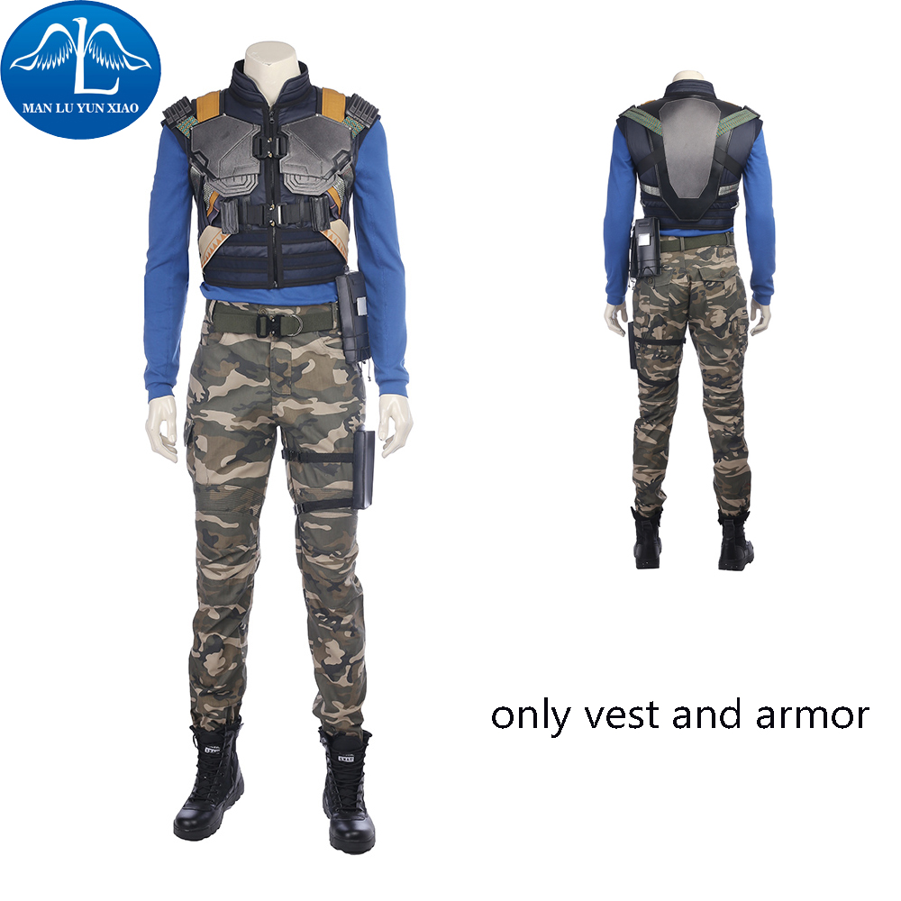 Black Panther Costume Men Costume Erik Killmonger Cosplay Costume Halloween Costume For Adult Only Vest And Armor Free Shipping