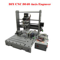 4 Axis CNC Router CNC Milling Machine 300W MACH3 3040 Mini Engraving Machine