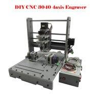 4 Axis CNC Router CNC Milling Machine 300W MACH3 3040 Mini Engraving Machine