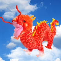 Fancytrader Dragon Plush Toys Soft Stuffed Lucky Dragon Anime Doll 90cm Gifts for Children