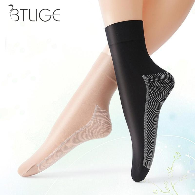 10 Pairs Spring Summer Women   Socks   Female Casual Non-slip Bottom Splice Transparent Ladies Girls Thin Silk   Socks   For Women