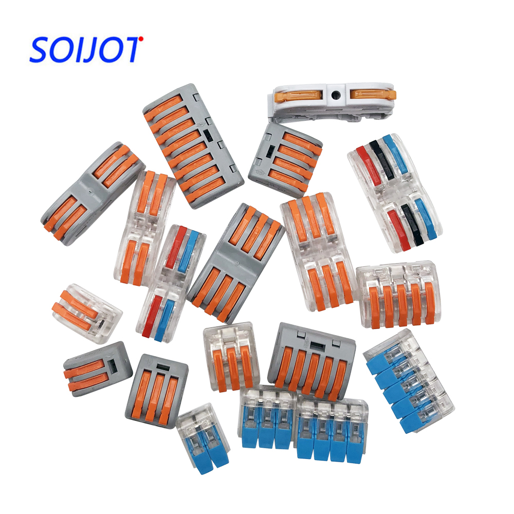 (1pc/10pcs) Wago 221 222-412 413 415 Mini Fast Wire Connectors,universal Wiring Cable Connector,push-in Terminal Block