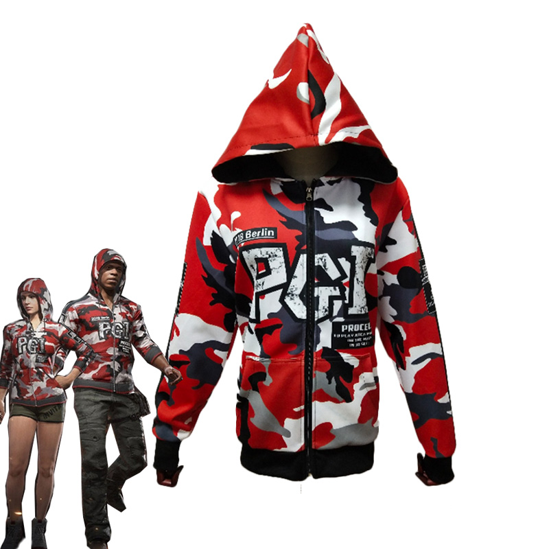 Game PUBG Hoodie Playerunknown's Battlegrounds Cosplay Costumes Chicken Dinner Unisex Fancy Hooded Jacket Casual Coat