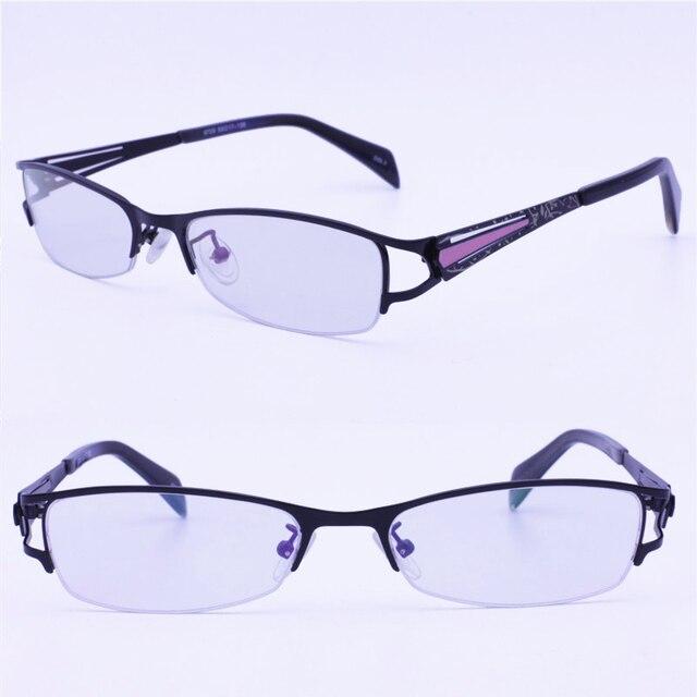 9f4ff52eee4 Retail sale 9729 designer metal unique shape half-rim printing drawing  temple tendy optical eyeglass frames for women