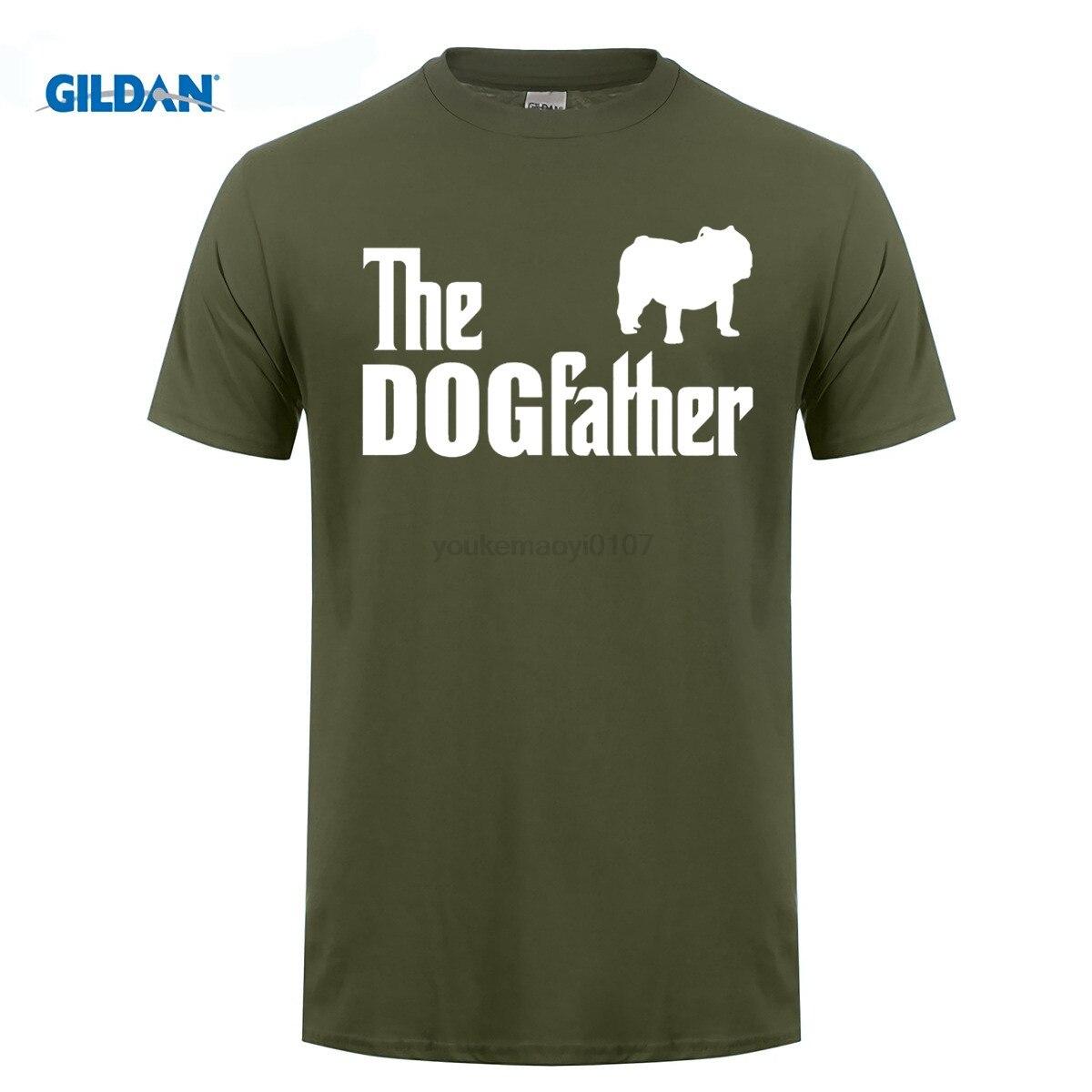 GILDAN T Shirt Design Online O-Neck Short The Dogfather Bulldog English Bulldog Dog Funny Gift Idea Graphic T Shirts
