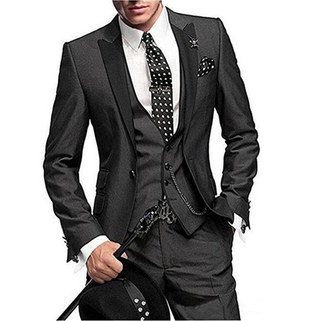 2019 Latest Coat Pant Designs Green Men Suit Slim Fit 3 Pieces