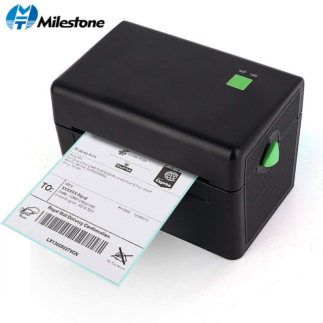 Milestone Thermal Printer With High Quality 108mm 4 Inch Thermal Label Barcode Printer USB Port MHT-DT108B