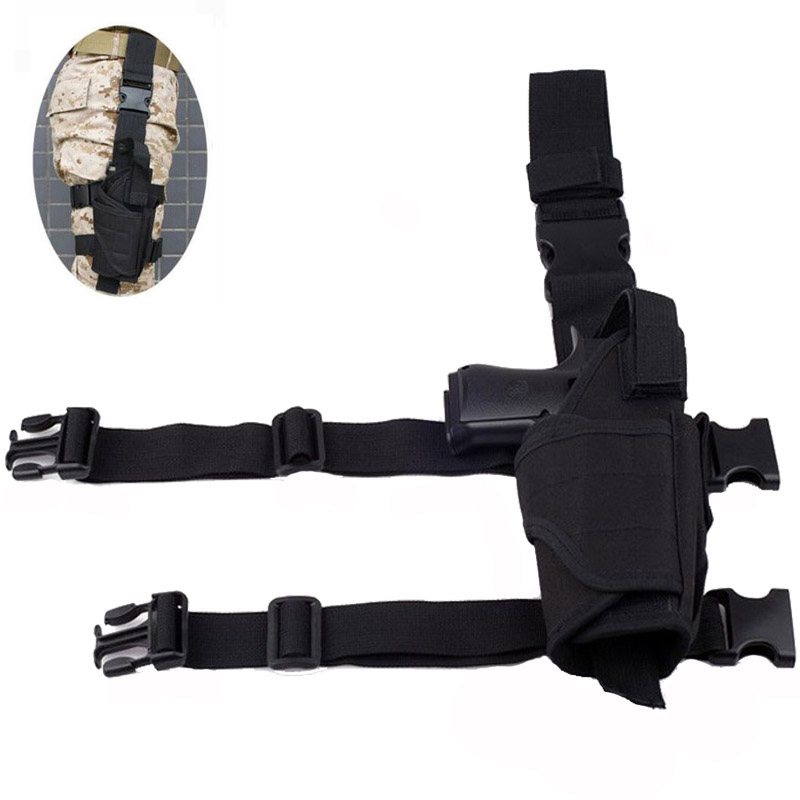 Nylon Army Tactical Tornado Gun Holster Right Hand Gun Carry Leg Thigh Holster Hunting Airsoft Pouch Fit For All Size Gun Pistol