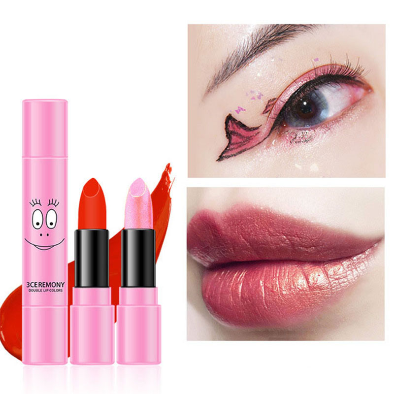 Labiales Matte Larga Duracion Flowing Gold Double Lipstick Moisturizer  Nutritious  Gifts For Women Matte Makeup Cosmetic