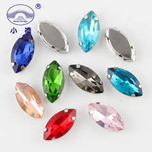 10PCS Mixed Color Crystal Rhinestone With Claw Loose Glass Flatback Rhinestones  Diy Sew On For Clothing S109