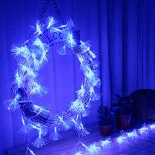 10m vodotěsné vlákno-optické LED světelné řetězy Venkovní Nový rok / Vánoční závěsy dekorace Festival Fairy světla H-12
