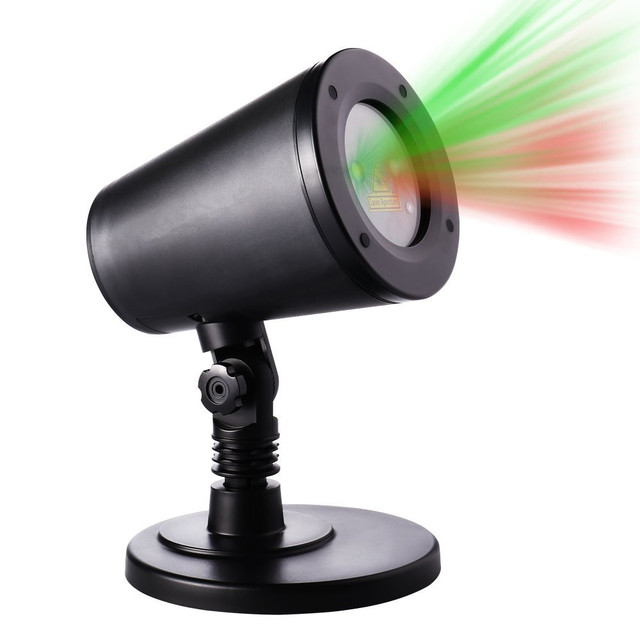 New Red And Green Laser Christmas Lights Star Projector Moving Star